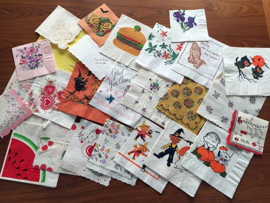 Discovering her childhood napkin collection brought back memories of family meals and occasions for Susan Patrick.