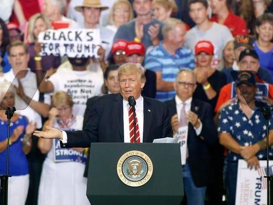 BESTPIX - President Trump Holds Rally In Phoenix, Arizona