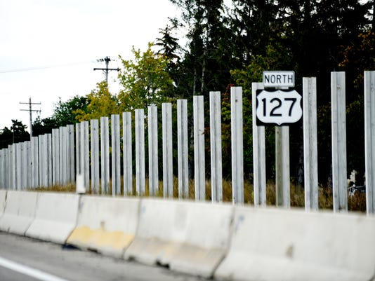 US 127 sound wall