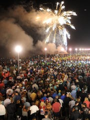 A huge crowd was on hand to view the pyrotechnics as
