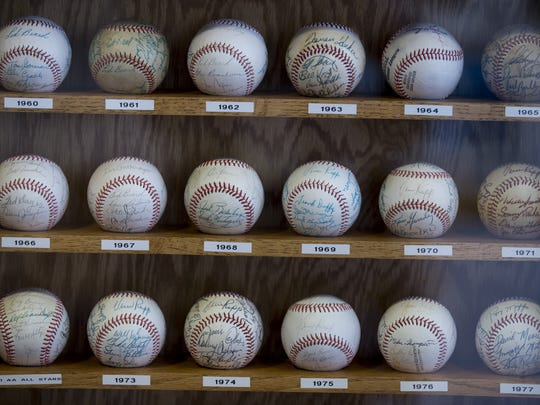 Max Schumacher has autographed baseballs by members of nearly every Indians club dating back to 1957.