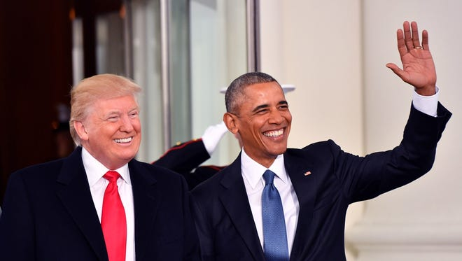 President Trump and former president Barack Obama
