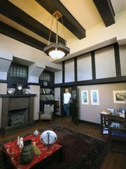 High ceilings in the den of this Henry Trost home at