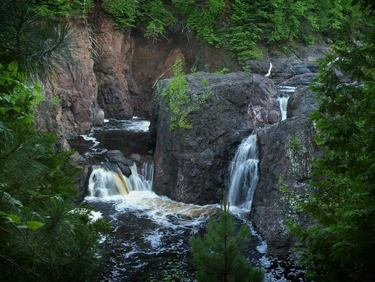 At Copper Falls State Park near Mellen, there are two