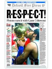 2004, Pistons win NBA title.