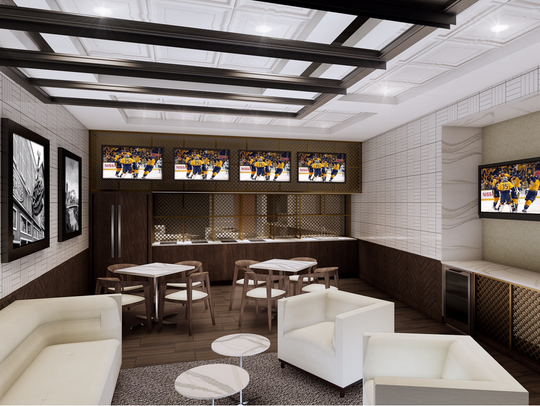 A rendering of future hospitality space coming to Bridgestone