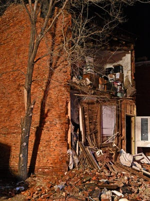 A house at 443 Line Street suffered a partial collapse in early March.