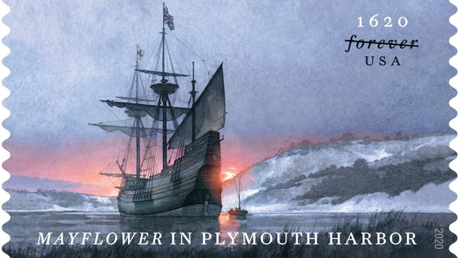 A USPS stamp honoring Plymouth's 400th anniversary goes on sale Sept. 17.