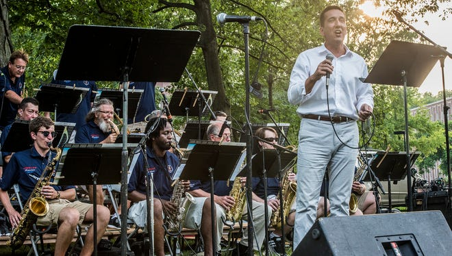 Big Band crooner Myles Ogea is scheduled to perform at the Jazz on the Terrace concert with America's Hometown Band at 7 p.m. Thursday, July 19, 2018..
