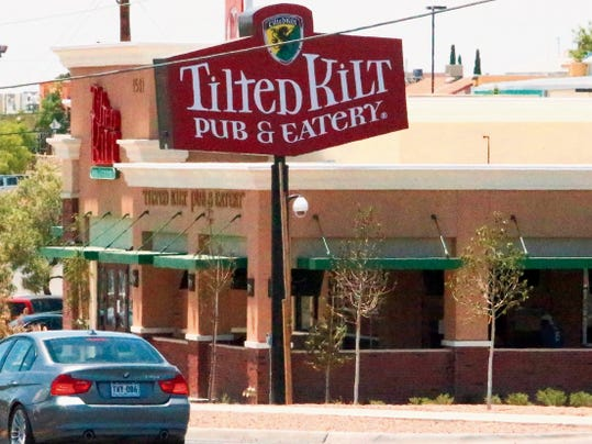 Rudy Gutierrez—El Paso Times The Tilted Kilt Pub & Eatery at 1501 N. Zaragoza will reopen Tuesday at 11 a.m. following a mishap Sunday afternoon involving some of the eatery's televisions. No one was injured when some of the televisions fell from their mounts in the bar area.
