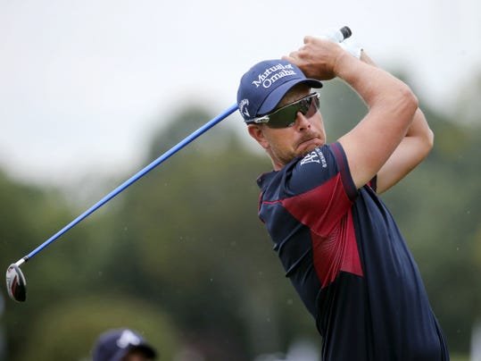 Henrik Stenson watches his tee shot on the 14th hole during the first round of the Tour Championship at East Lake Club on Thursday in Atlanta.