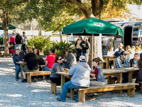 Weekends bring local regulars and tourists alike to Bayou Teche Brewing's taproom, which offers tours, beer, catered foods and live music.