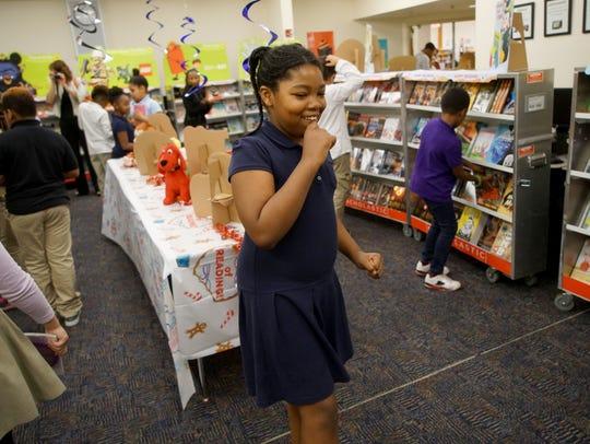 Nine-year-old Sithandra Cunningham, a fourth-grader
