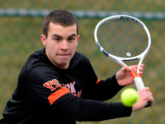Red Land at York Suburban boys' tennis scrimmage