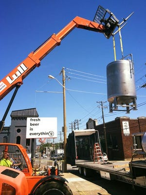 Gravely Brewing Co. under construction