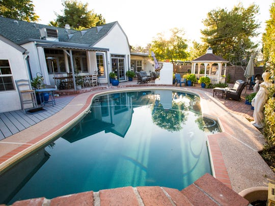 Pool and backyard of Ruth Anne Pedersen and her husband
