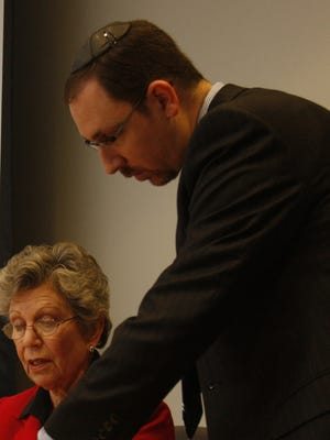 Aaron Troodler is seen with Harriet Cornell, then-chair of the Rockland County legislature, in 2008.