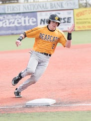 Paint Valley's Macky McDonald rounds third to head home in a regular season game versus Alexander in the 2018 season.