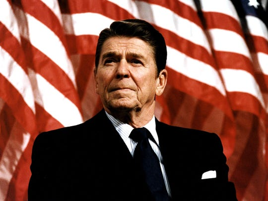 """We need another Ronald Reagan,"" Finley writes. The former president was ""a genuine Yankee Doodle Dandy."""