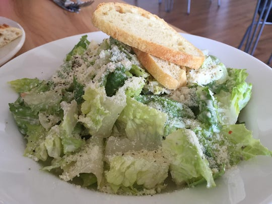 Calafuria's Caesar salad is made with anchovies (for a briny hit) and local raw eggs (for richness) in the dressing