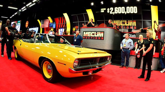 Mecum Auctions offer collector cars and much more at its auctions, which usually run from two to 10 days and are available to view live on YouTube. You can register to bid by phone or online so you don't have to be there in person. Many of the cars sold are no reserve and never make it to the major televised shows, offering excellent values. Barrett-Jackson is similar.