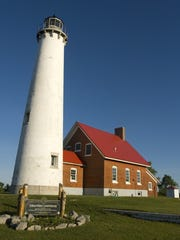 The Tawas Point lighthouse.