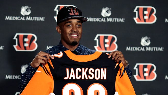 The Bengals introduce first-round pick William Jackson III.
