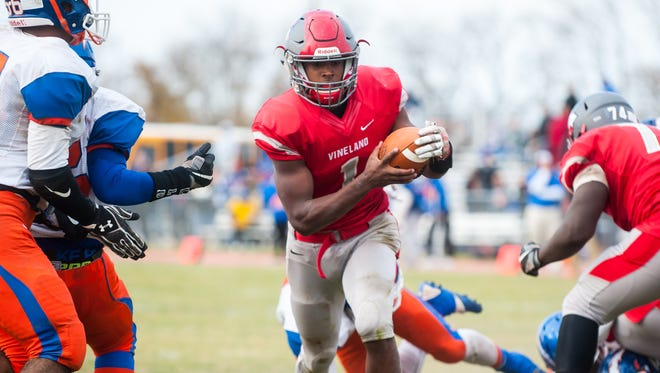 Vineland quarterback Isaih Pacheco led the Fighting Clan to a victory over Millville.