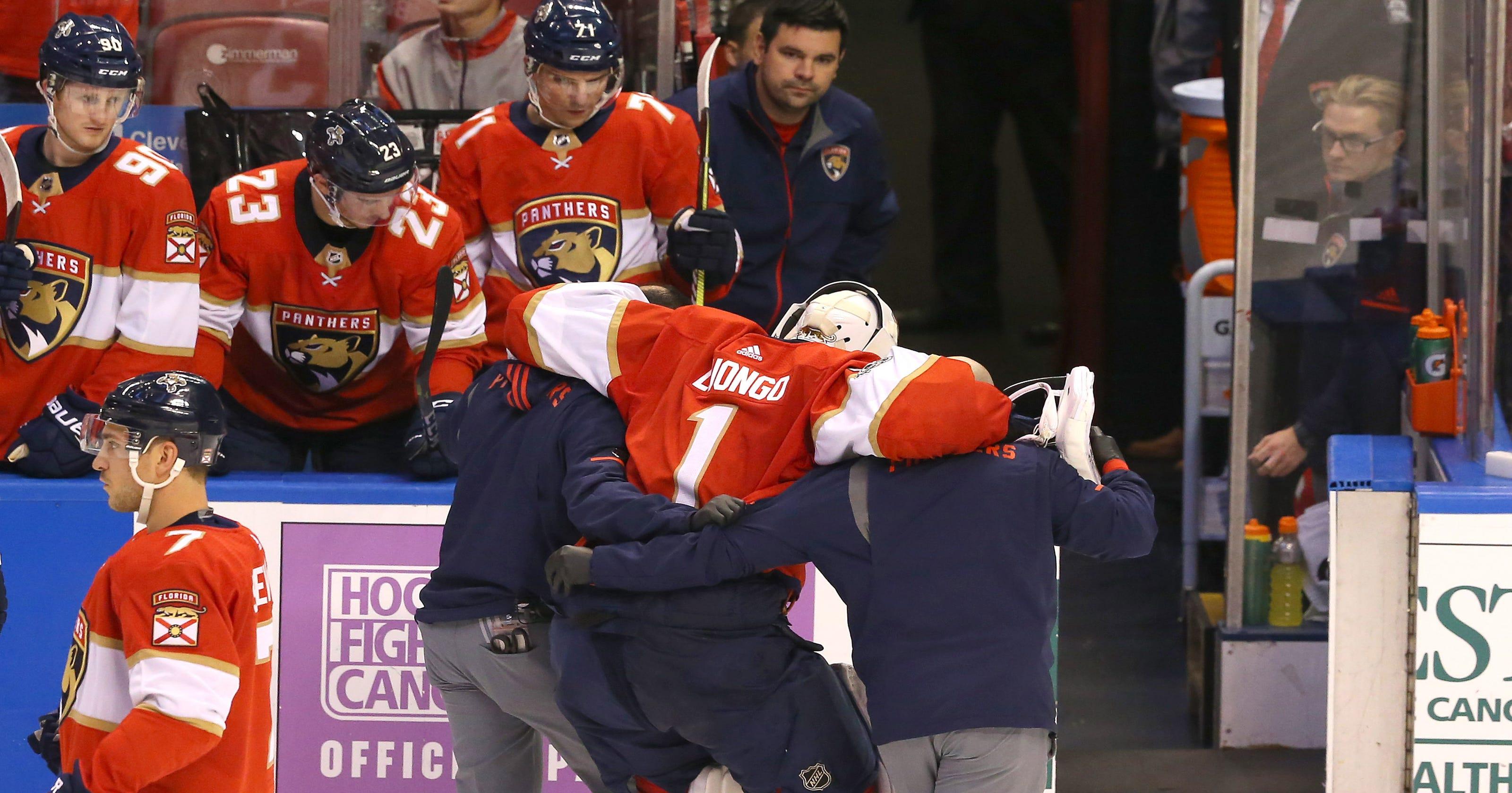 Roberto Luongo Exits Florida Panthers Game With Apparent Leg Injury