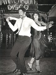 Donald Tolbert and Raquel Gonzalez perform at White Rabbit Disco in September 1981.