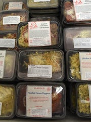 Collection of frozen entrees, including rigatoni, beef