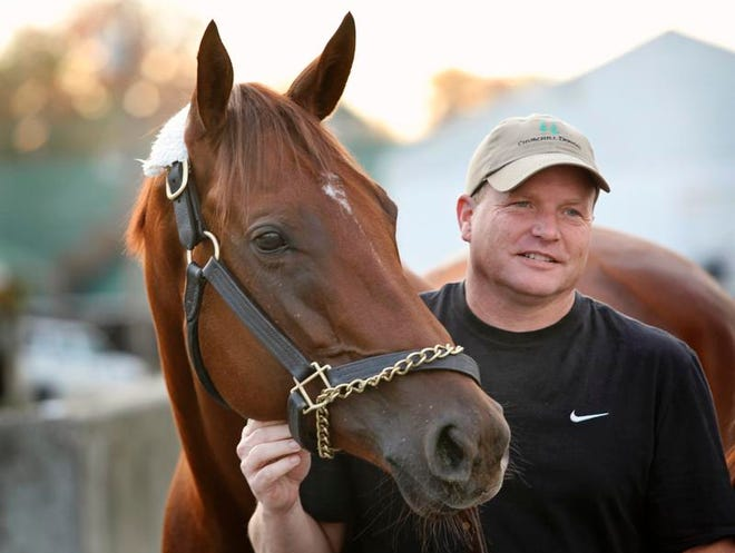 """Owner/breeder/trainer Buff Bradley says he's """"going to cry"""" next month when he sells his 5-year-old mare Groupie Doll."""