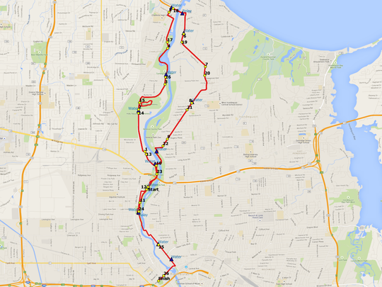 Map of the new Rochester Marathon course covers northern Rochester. The race will be held Sept. 20.