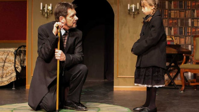 Mary Lennox (Bella McKinley) meets Andrew Craven (Gerry Thom).
