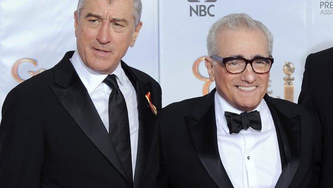 Longtime collaborators Robert De Niro, left, and director Martin Scorsese.