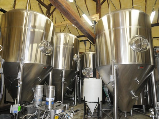 The inside of the microbrewery at Sloop Brewing Company's location in Elizaville.