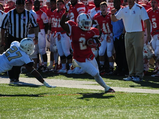 Olivet College running back Damorria Lilly was a second-team