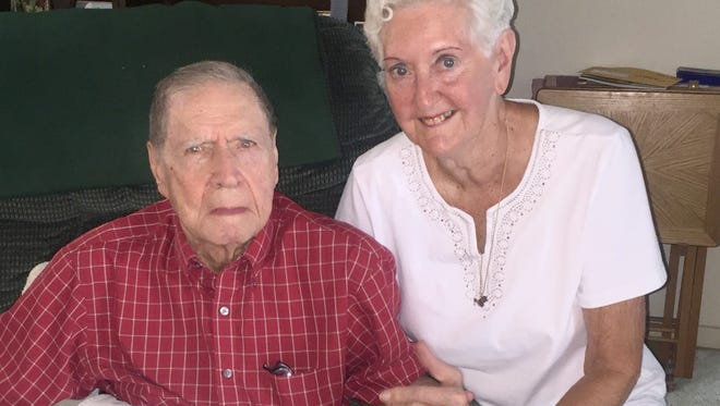 Dr. James Stewart and his wife Pat at their Vero home.