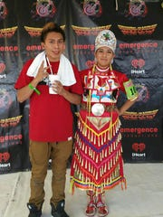 Amadeo and Mikayla Wauneka at the 2015 Gathering of