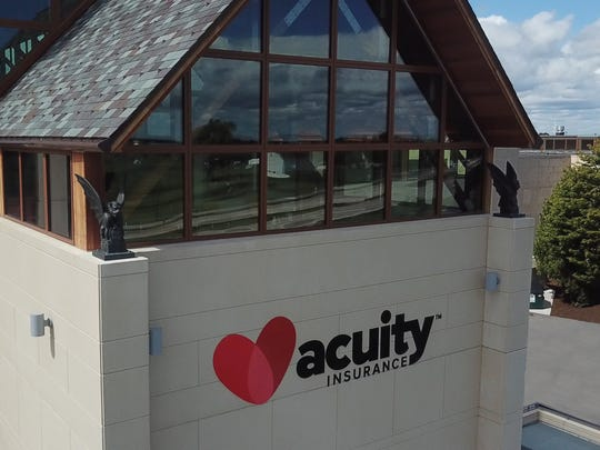 Acuity Insurance's headquarters has become a landmark for people driving on I-43.