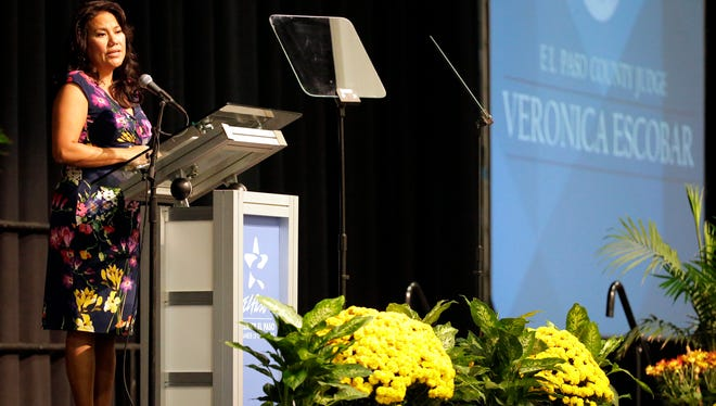 County Judge Veronica Escobar delivers her fifth State of the County address Wednesday morning at the El Paso Convention Center in front of a packed house. Escobar highlighted several accomplishments that were achieved over the past year, including included consolidation of several departments, tax savings plans and the creation of a county administrator position.