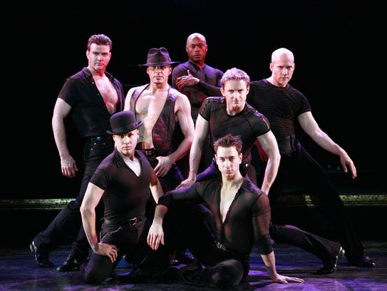"The men of the musical,  ""Chicago."""