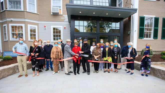 The grand reopening ribbon cutting ceremony for the Plymouth Center for the Arts was supposed to take place in the spring of this year, just in time for Plymouth's 2020 celebration. The coronavirus delayed that plan. Last Friday, Sept. 18, the ribbon cutting finally took place. It celebrated not only the almost completed Elevate the Arts renovation project, but the reopening of the Center since it was closed to ther public on March 16 due to the Covid-19.