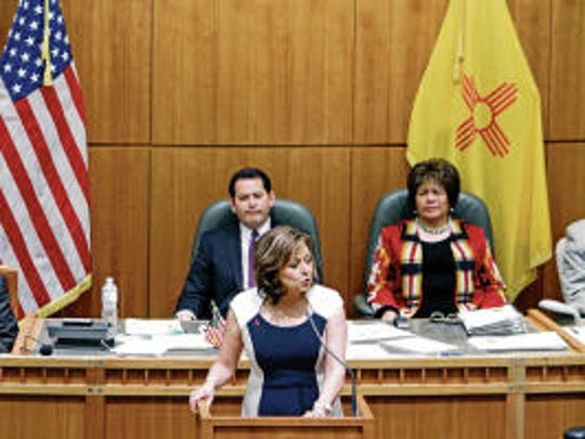 In this Farmington Daily Times file photo, Gov. Susana Martinez addresses a joint session of the state House and Senate.