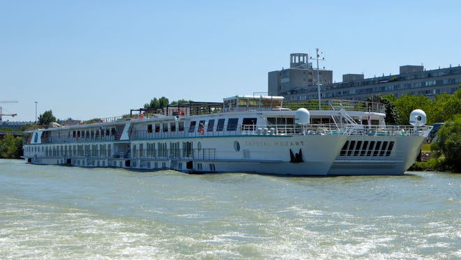 Crystal Cruises launched its Crystal River Cruises division with the debut of the Crystal Mozart on July 13, 2016.  At 3,341 gt and 395 by 75 feet, it is twice the width of the standard river cruise ship and by far the largest in Europe.