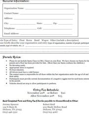 Parade Entry Form
