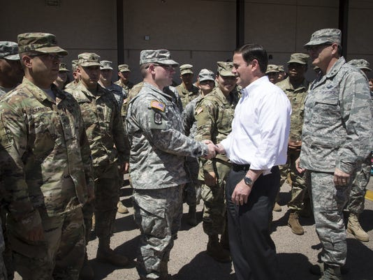 Ducey deploys National Guard troops to U.S.-Mexico border