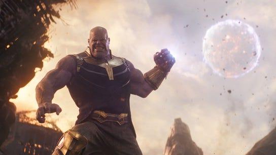 "The villain Thanos from Disney's billion-dollar hit ""Avengers: Infinity War."""