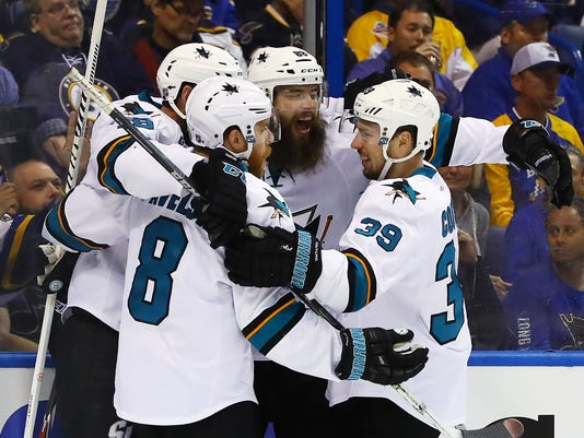 USP NHL: STANLEY CUP PLAYOFFS-SAN JOSE SHARKS AT S S HKN USA MO