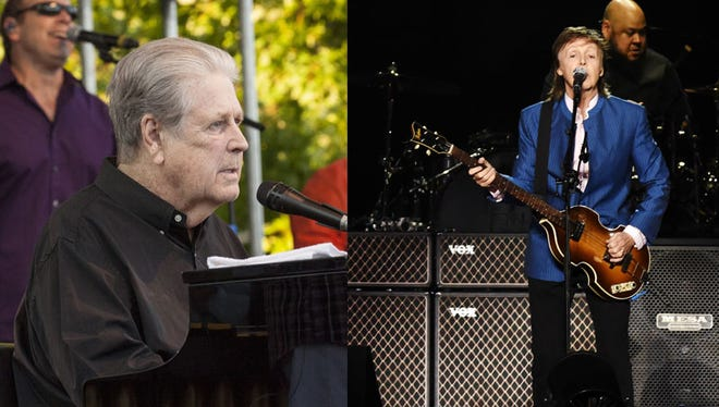 Brian Wilson and Paul McCartney